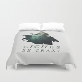 Lich (Typography) Duvet Cover