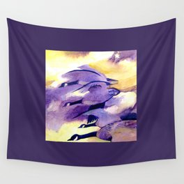 Canada Geese - Westering Home Wall Tapestry