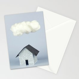 A cloud over the house Stationery Cards