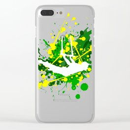 Trapeze white Clear iPhone Case