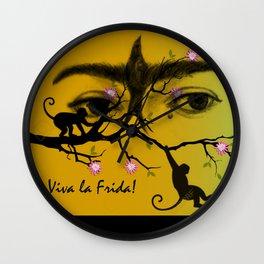 FRIDA KAHLO Y SUS MONOS Wall Clock