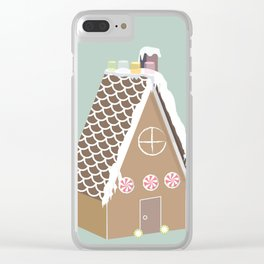 Gingerbread House Clear iPhone Case