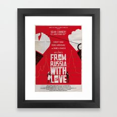 From Russia With Love Framed Art Print