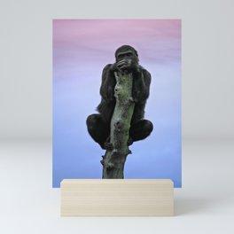 Lope The Gorilla At Sunset Mini Art Print