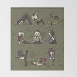 TWD YOGA Throw Blanket