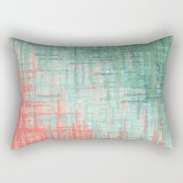 Mint Coral Abstract Rectangular Pillow