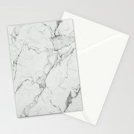 White Marble Texture. Stationery Cards
