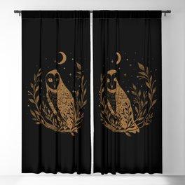 Owl Moon - Gold Blackout Curtain