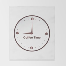 It is the Coffee time - I love Coffee Throw Blanket