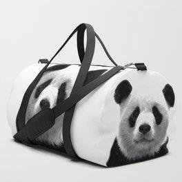 Black and white panda portrait Duffle Bag