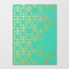 Geometric Turquoise Canvas Print