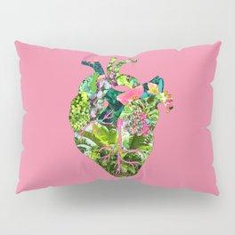 Botanical Heart Pink Pillow Sham