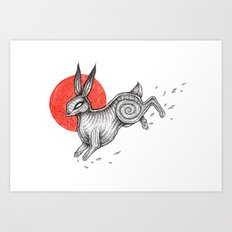 The Black Rabbit of Inlé Art Print