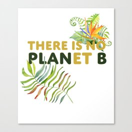 There is no Planet B design Canvas Print