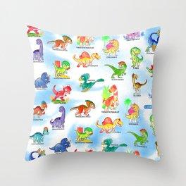 Chibidinos Watercolors Summer 2018 Throw Pillow