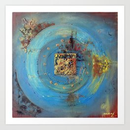 Of the Earth 4 by Nadia J Art Art Print