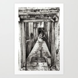 Children Playing in Stonetown Zanzibar 3665 Art Print