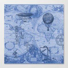 Steampunks in Blue Canvas Print