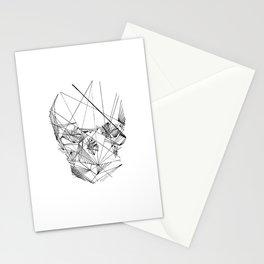 Line Skull Stationery Cards