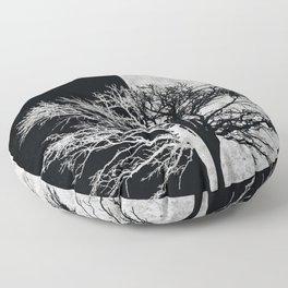 Natural Outlines - Oak Tree Black & Concrete #402 Floor Pillow
