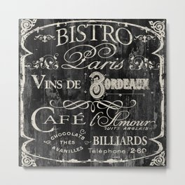 Paris Bistro V Metal Print