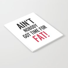 Time For Fat Funny Gym Quote Notebook