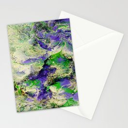 Pansies in Cream Stationery Cards