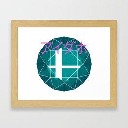 AESTHETIC GSS LOGO Framed Art Print