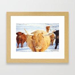 Cow Squad Goals Framed Art Print