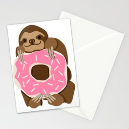 Because Sloths AND Donuts Stationery Cards
