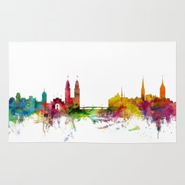 Zurich Switzerland Skyline Rug