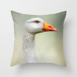 Goose with a beauty spot Throw Pillow