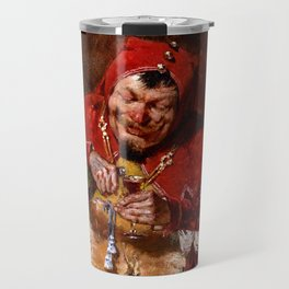 Keying Up - The Court Jester by William Merritt Chase Travel Mug