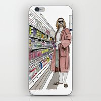 lebowski iPhone & iPod Skins featuring Jeffrey Lebowski and Milk. by DJayK