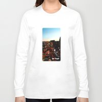 las vegas Long Sleeve T-shirts featuring Las Vegas by Natasha Jones