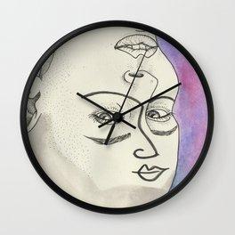Les Femmes - purple haze Wall Clock