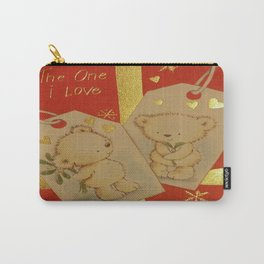 LOVE AT CHRISTMAS Carry-All Pouch