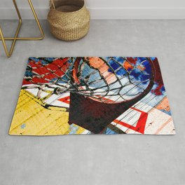 Basketball art print 165 Rug