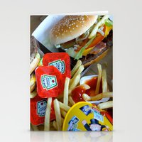 junk food Stationery Cards featuring Junk Food by Renatta Maniski-Luke