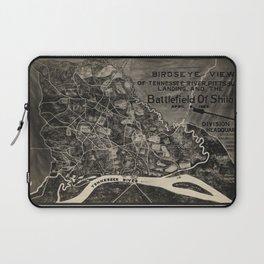 Vintage Map of The Shiloh Battlefield (1917) Laptop Sleeve
