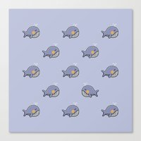 whales Canvas Prints featuring whales by Jarvis Glasses