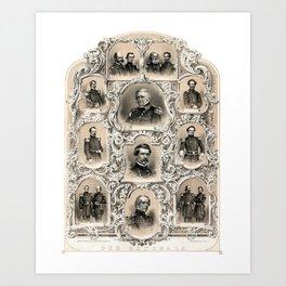 Our Generals -- Union Civil War Art Print