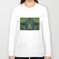 lantern Long Sleeve T-shirts featuring Lantern Flame by Avril Harris