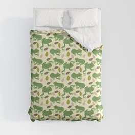 Fun Frogs with Leaves from Trees Comforters