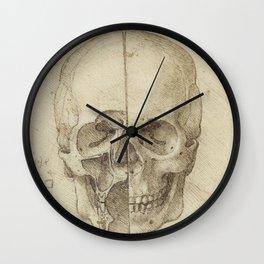 Skull - Leonardo Da Vinci Wall Clock