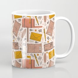 Envelopes and Stamps Pattern Coffee Mug