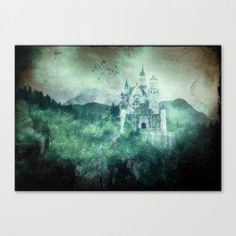 The dark fairytale - Bavarian Fairytale Castle Canvas Print