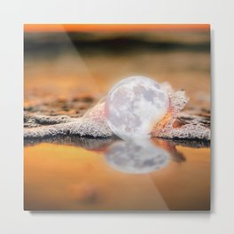 The Rare Pearl Moon Metal Print