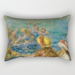 "Auguste Renoir ""Baigneuses"" Rectangular Pillow"