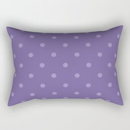 Ultra violet polka dot pattern Rectangular Pillow